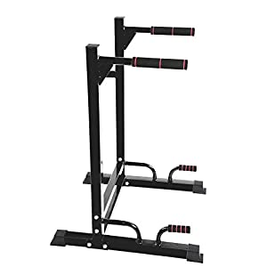 GOTOTOP Multifunktionale Power Tower Dip-Stationen mit Klimmzugstange, Kraftstation für Home-Gym, 65 * 77,5 * 103,5 cm