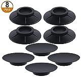 8 Pezzi Ammortizzatore Vibrazione per Lavatrice Tappetino Antivibrante per Lavatrice Piedini Antivibranti per Asciugatrice (10 cm, nero)