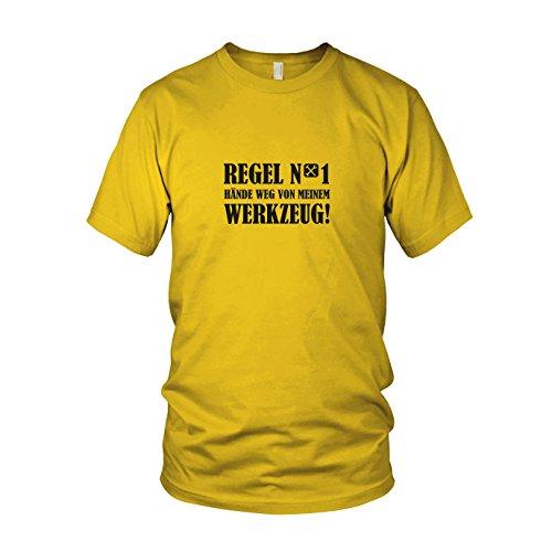 (Hände weg von meinem Werkzeug - Herren T-Shirt, Größe: XXL, Farbe: gelb)