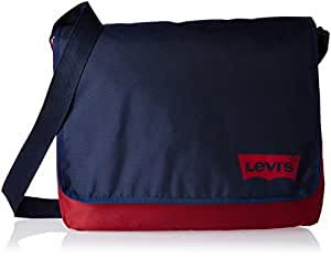 Levi's Fabric 26 cms Red and Blue Messenger Bag (77170-0674)