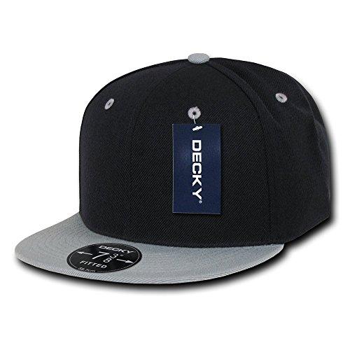 Decky Retro Spannbettlaken Kappen Head Wear, Herren, Retro Fitted Caps, Schwarz/Grau Preisvergleich