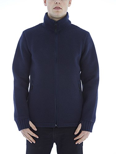 Bench Herren Strickjacke Pat Blau (Dark Navy Blue NY031)