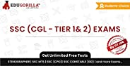 SSC (CGL - TIER 1 & 2) Exam Mock Test 2020 | Unlimited Online Test Series & Speed Tests | 1 Month Subs