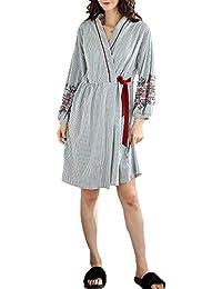 Forall-Ms Bata De Algodón Suave Suave De Lujo Yukata Albornoz Pijamas Bata De BañO Bata Bata De Baño, Bata Personalizada En JapóN…