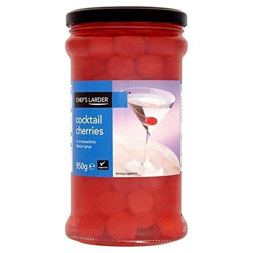 Chef's Larder Cocktail Kirschen in Maraschino Sirup geeignet für Vegetarier - 950g Glas Jar