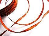 CaPiSo® 100m 3mm Breit Satin Schleifenband Geschenkband Satinband Dekoband Hochzeit Weihnachten (Kupfer)