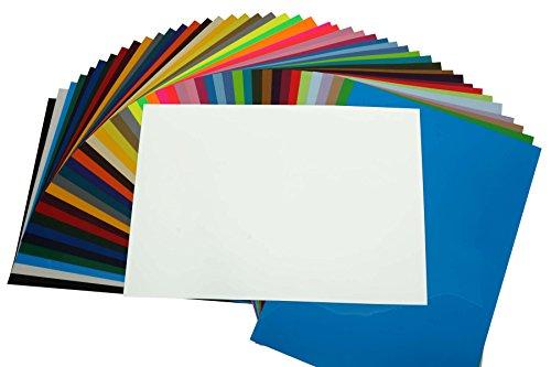 PremiumFlex Plotterfolie DIN A4 Textil-Bügelfolie, Farbe:Weiß