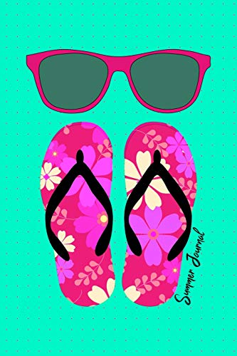 Summer Journal: Summer Activities Bucket List With Date Tracker Planner For Fun Events Write And Draw Pink Sunglasses Flip Flops Design Soft Cover - Soft-flipflops