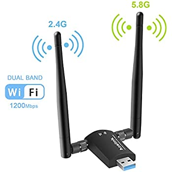 ANEWISH Usb Wifi Adapter 1200mbps Long Range 802 11 AC Dual