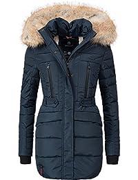 Marikoo Nova Cappotto Trapuntato Invernale da Donna Lungo con Grande 6  Colori XS-XXL 8f2e9963e43