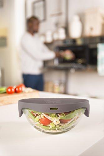 Tomorrow`s Kitchen Single Dampfgarer Glas grau 7 x 17 x 14 cm