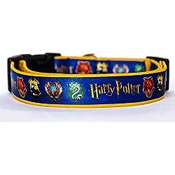 Harry Potter B Collar Perro Hecho a Mano Talla L sin Correa Dog Collar HandMade