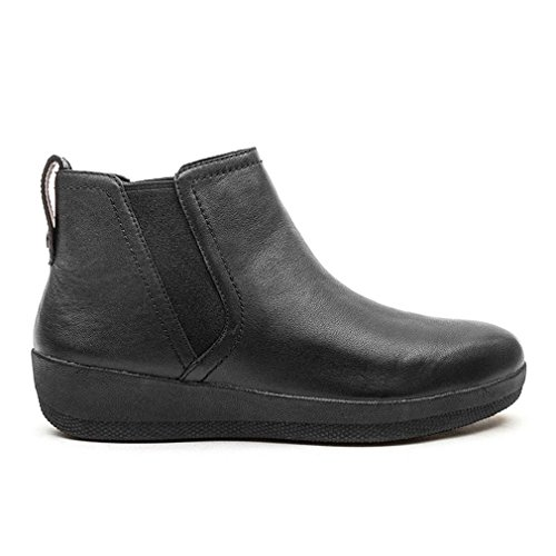 FitFlop Superchelsea Tm Boot, Baskets Hautes Femme Black