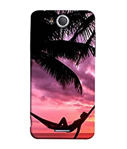 FUSON Designer Back Case Cover for InFocus M530 (Sunset Beach Hammock Chillout Wallpapers Palmtrees)