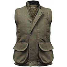 Hombre Hereford Tweed Chaleco Country Chaleco Térmico CAZA, Tiro Pesca Chaleco
