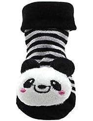 HuntGold chaussure bébé mignon unisexe en coton design de animation 3D(panda)