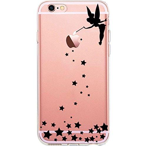 Blitz® GLAMOUR motifs housse de protection transparent TPE caricature bande iPhone Branche avec des fleurs M12 iPhone 4 Fée évoque les étoiles M15