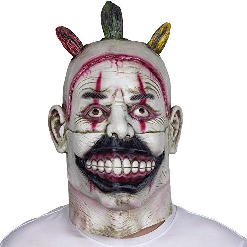 LXIANGP Latex Kopfbedeckungen Halloween Scary Horror Clown Maske Bar Party Ball Cod Geistermaske