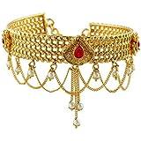 Anuradha Art Gold Finish Studded Sparkling Stone Traditional Bajuband/Armlets for Women