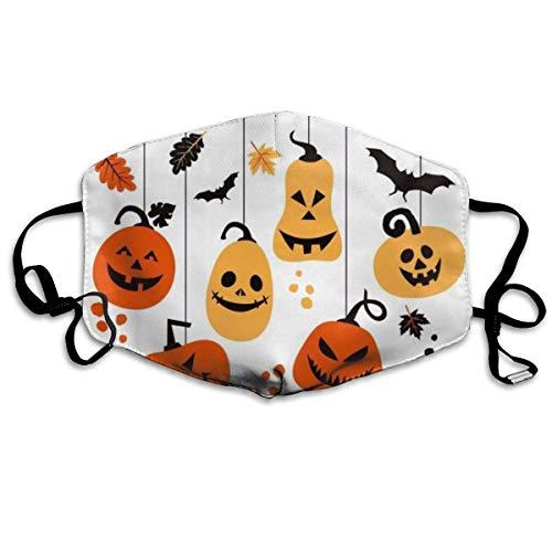 cvbnch Staubmaske Außenmaske Hanging Pumpkins for Halloween Printed Mouth Masks Unisex Anti-dust Masks Reusable Face Mask Soft and Breathable for Men Women Fashion Anime Black Nose Disposable Rave