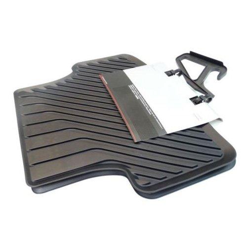 Preisvergleich Produktbild Audi 8V0061511041 Gummifußmatten Hinten ohne Verclipsung, Schwarz, 2 Stück