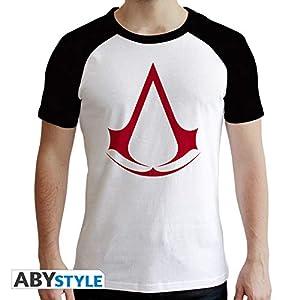 ABYstyle - Camiseta de Manga Corta para Hombre, Color Blanco y Negro
