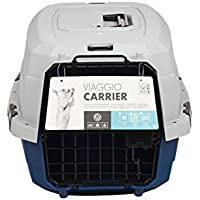 MPETS Viaggio Transportbox für Hunde blau / grau, Größe M