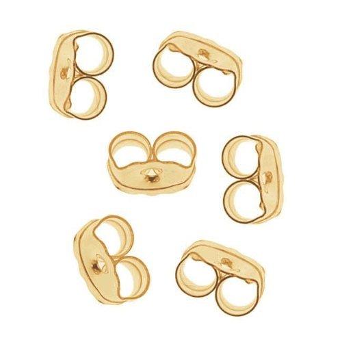 Beadaholique Gefüllte Ohrringbefestigungen, 14K Gold, 3 Paar