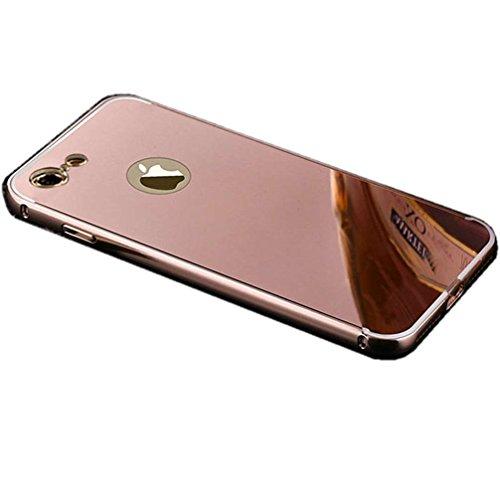 """Miroir Coque Pour iPhone 7 [4.7""""], or Métal Mince Noble Accessoires Série AOFad AB034 AB032+Rose Gold"""