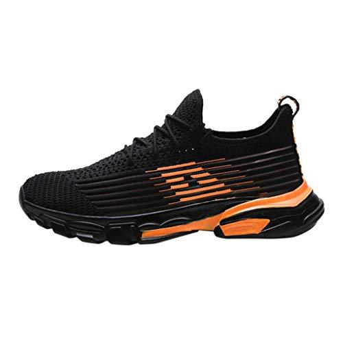 CUTUDE Herren Sneaker Laufschuhe Air Sportschuhe Turnschuhe Running Fitness Outdoors Straßenlaufschuhe Sports - Weiß, Gelb, Orange 39 EU-44 EU (Orange, 41 EU)