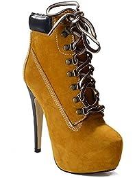 SONGYUNYANEuropa y tiras alta resistente al agua Botas/botines de las mujeres de la moda de discoteca , brown , 44