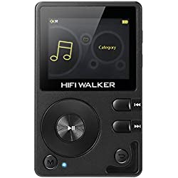 HIFI WALKER H2 Lecteur Audio Numérique Haute Résolution Portable Lecteur de Musique Lossless Bluetooth avec Carte microsd 16Go et écouteurs Audio HD