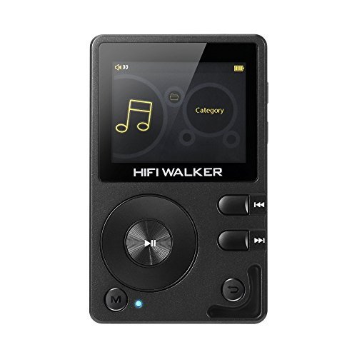 Brown Mp3 (HIFI WALKER H2 Hohe Auflösung Bluetooth Digital Audio Player Portable mit 16 GB microsd karte und HD audio kopfhörer)