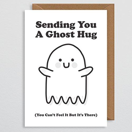 Ghost Hug Get Well Soon Karte-Get Well Soon-Geschenke-schlecht Krank-Für Sie-Für Freund-Für Ihn