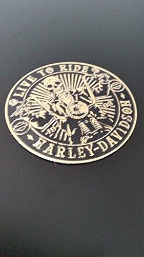 "SCRITTA STEMMA LOGO ADESIVO SKULL ""HARLEY DAVIDSON"" EFFETTO RILIEVO LUCIDO M2004"