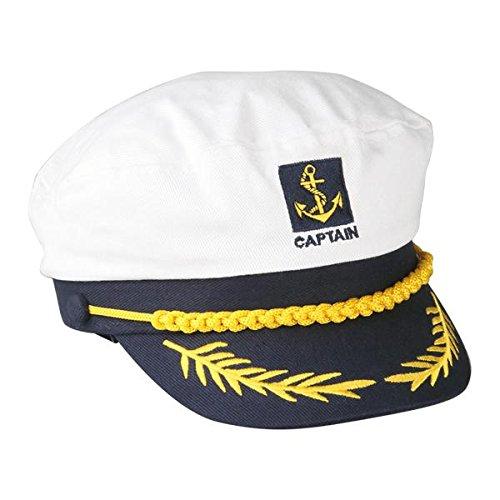 FACILLA® Sailor Ship Boat Captain Hat Navy Marins Admiral Adjustable Cap White [Apparel]
