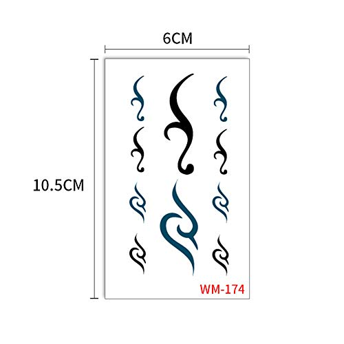 3 Unids-Tattoo Set de Pegatinas en Inglés Cartas Sánscritas con el logotipo de Superman logo logo Mosquito Sticker 3Pcs-34