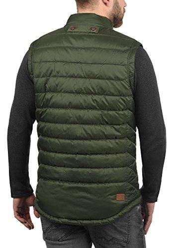 BLEND Cemal Herren Weste Steppweste Übergangsweste mit Stehkragen aus hochwertiger Materialqualität Duffel Bag Green (77019)