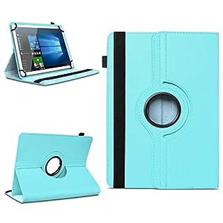 NAmobile Blaupunkt Atlantis A10.G402 / A10.G403 Tablet Tasche Schutzhülle hochwertiges Kunstleder Hülle Standfunktion 360° Drehbar Cover Universal Case, Farben:Türkis