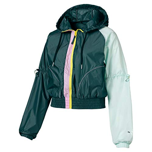 Puma Damen Cosmic Jacket TZ Trainingsjacke Ponderosa Pine-Fair Aqua S
