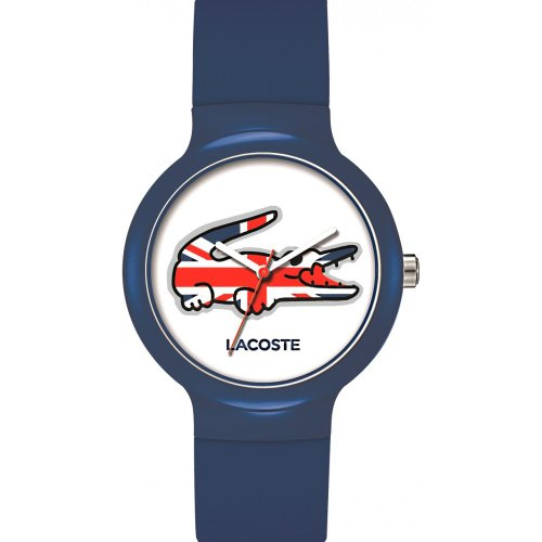 Lacoste Watches Unisex Goa Blue Union Jack With White Dial