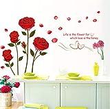 Wandaufkleber Baby Schöne Rose Bouquet Goldrand Entlang Der Klassischen Wandaufkleber Wohnzimmer Schlafzimmer Blume Dekoration Liebe Aufkleber Für