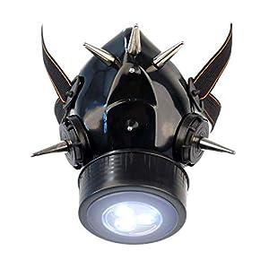 MB-Müller 87339-003-000 - Máscara de gas con pinchos largos y luz LED, unisex, color negro