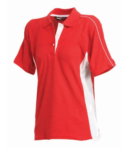 Finden & Hales - Polo -  Femme Rouge - Rouge/blanc