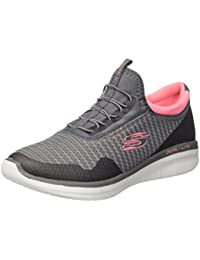 Skechers Women's Synergy 2.0 Carcoal Grey/Pink Runing Shoes (6-UK/INDIA)