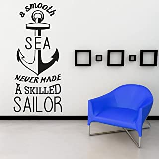 Adesiviamo Ancor ''A smooth the sea never made. Wandtattoos Vinyl Wall Stickers Decals