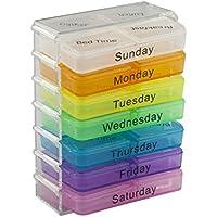 Taylor & Braun® 7Day Bunte Pille Box Pillendose WEEKLY Pille Veranstalter Halter Spender mit 4zu Linien preisvergleich bei billige-tabletten.eu