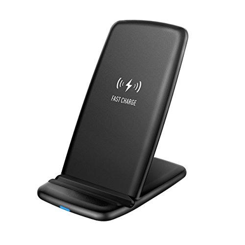 Holife Cargador Inalámbrico Rápido, 【Mini Versión】2 bobinas Qi Cargador Soporte de Carga Inalámbrica Rápida Cargador de Teléfono Inalámbrico paraSamsung Galaxy S8 /S8Plus/S7/S7 Edge/S6 Edge+