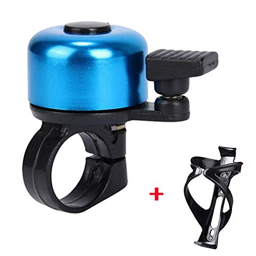 Fahrrad Glocke, Switchali Lenker Glocke Fahrradglocke Fahrradklingel Metall Fahrradlenker Radfahren Bell-Horn (Blau)