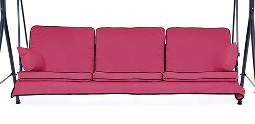 Cerise Pink komplett Ersatz Kissen Set für 3-Sitzer Schaukel Sitz Hängematten